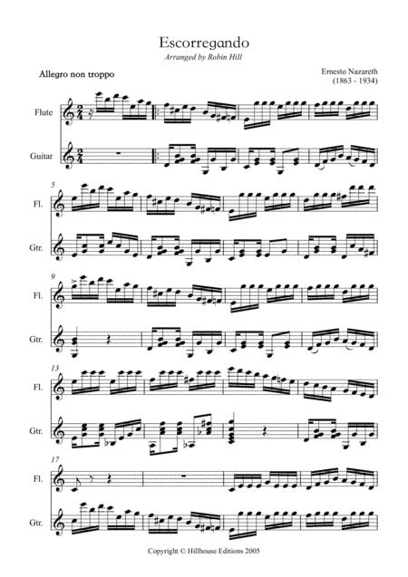 Escorregando (arranged for flute and guitar)