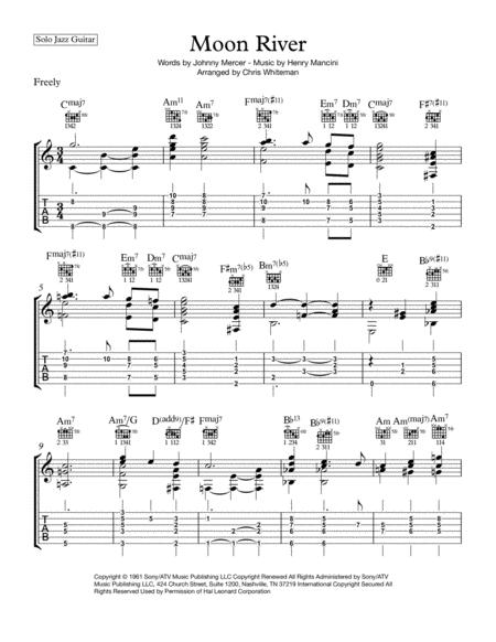 Moon River - Jazz Guitar Chord Melody