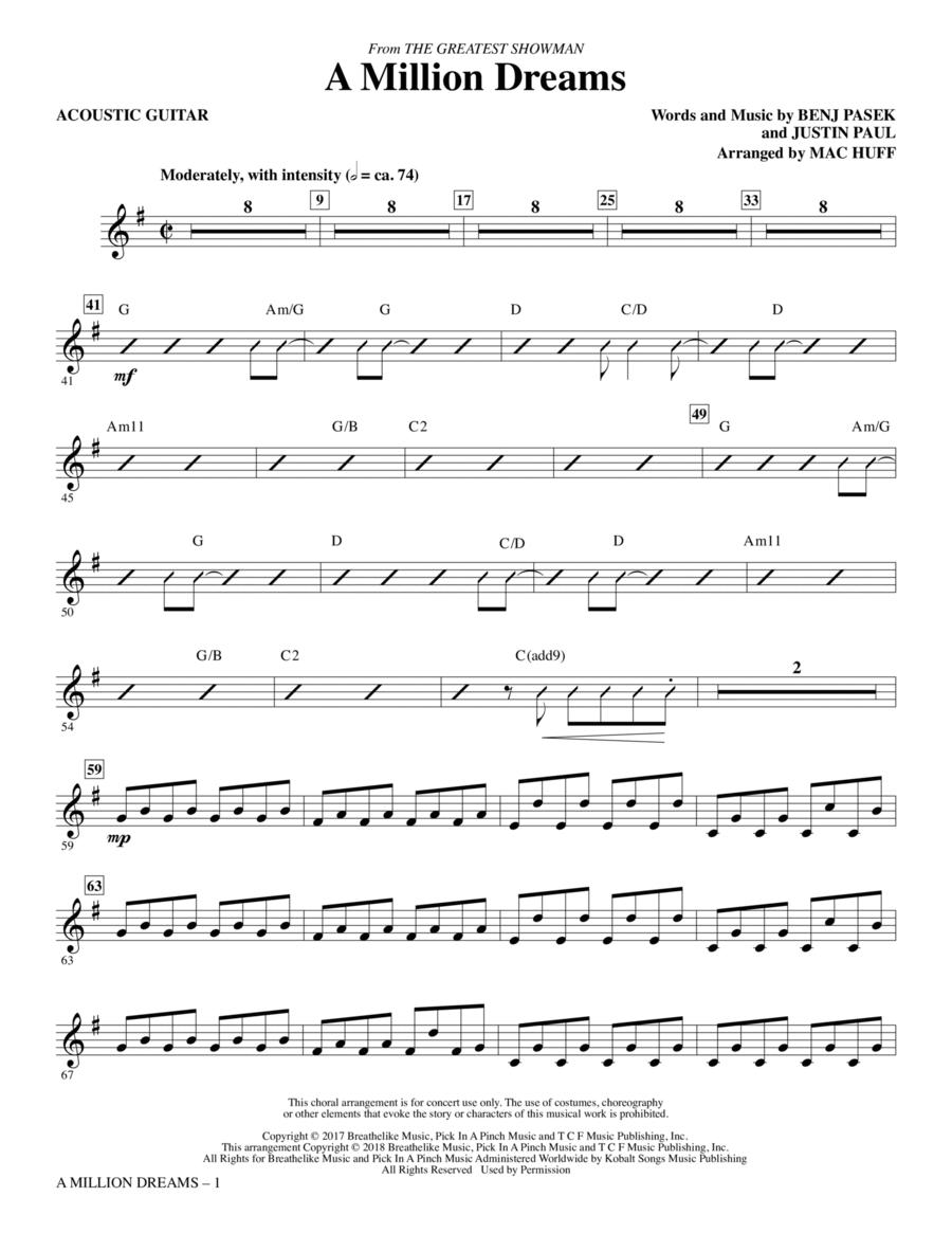A Million Dreams - Acoustic Guitar