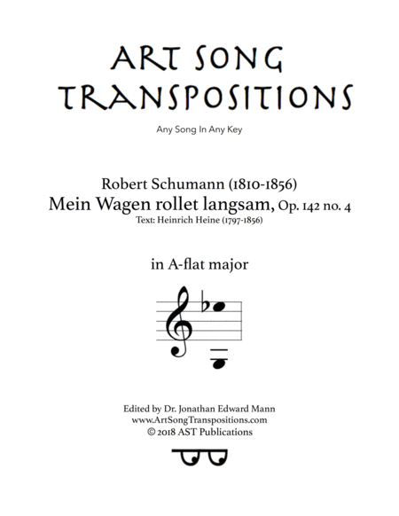 Mein Wagen rollet langsam, Op. 142 no. 4 (A-flat major)