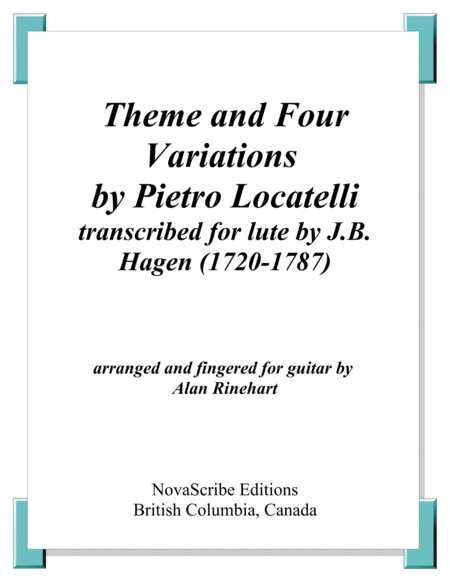 Theme and Four Variations by Locatelli   arr. for guitar