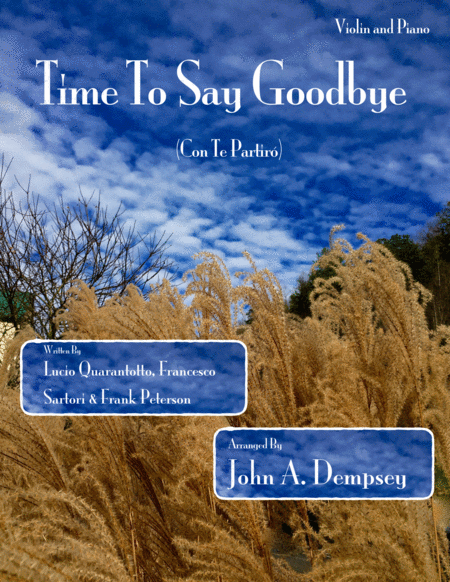 Time To Say Goodbye (Violin and Piano Duet)