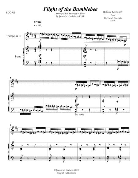 Korsakov: Flight of the Bumblebee for Trumpet & Piano