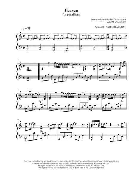 Heaven - Pedal Harp Solo