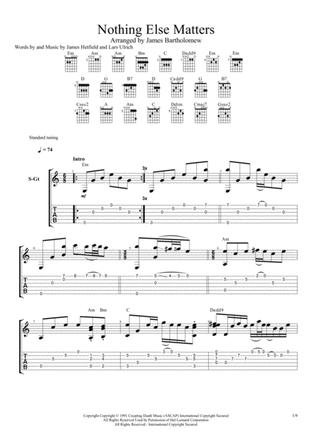 Nothing Else Matters (Fingerstyle Guitar)