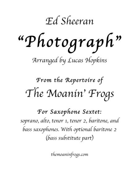 Photograph, for saxophone Sextet