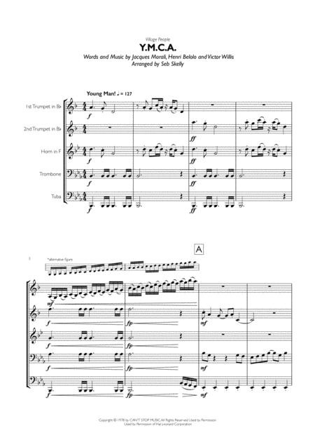Village People - Y.M.C.A. for Brass Quintet