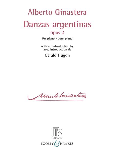 Danzas Argentinas Opus 2