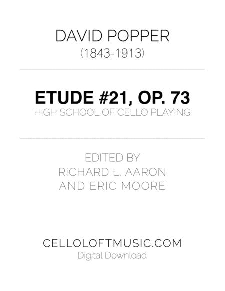 Popper (arr. Richard Aaron): Op. 73, Etude #21