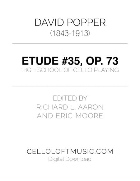 Popper (arr. Richard Aaron): Op. 73, Etude #35