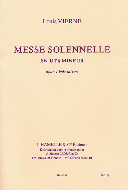 Messe Solennelle Ut Diese Min. - Partie De Choeur Sans Accompagnement