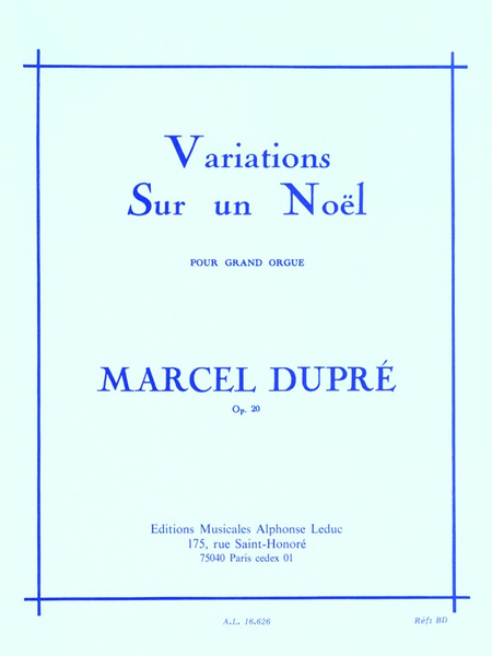 Variations Sur Un Noel Op20 - Orgue