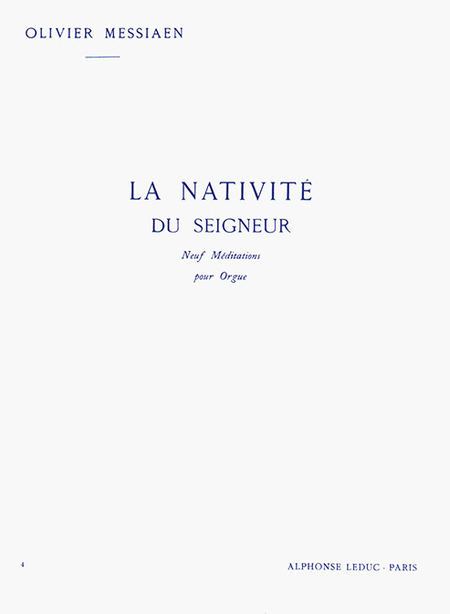 Nativite Du Seigneur Volume 4 (Meditation 9) - Orgue