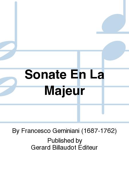 Sonate En La Majeur