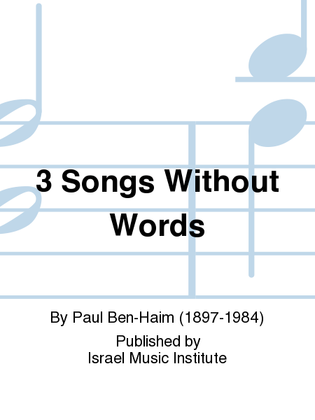 3 Songs Without Words