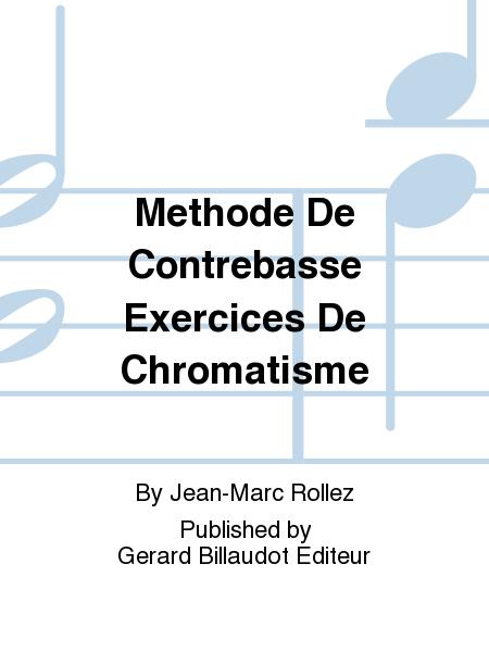 Methode De Contrebasse Exercices De Chromatisme
