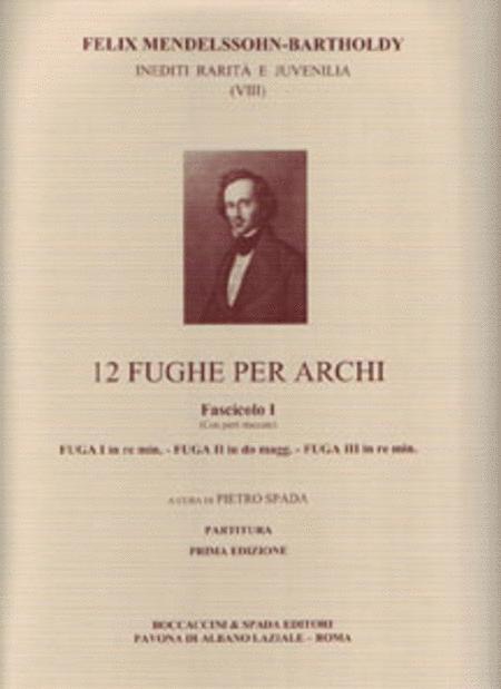 12 Fughe Per Archi Fascicolo I
