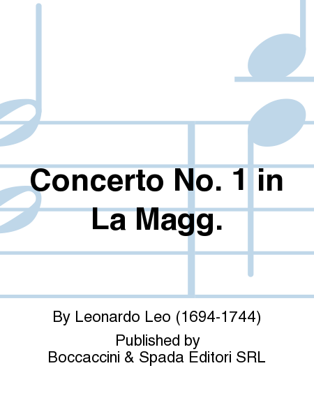Concerto No. 1 In La Magg.