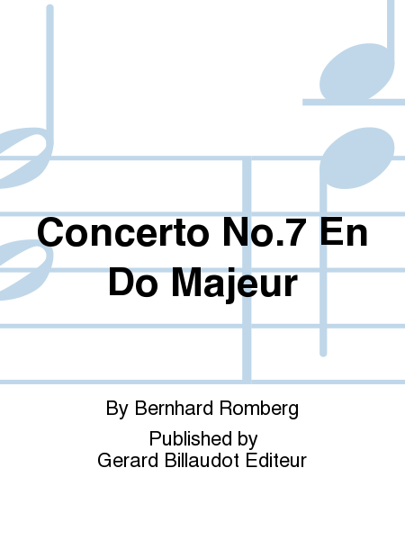 Concerto No.7 En Do Majeur