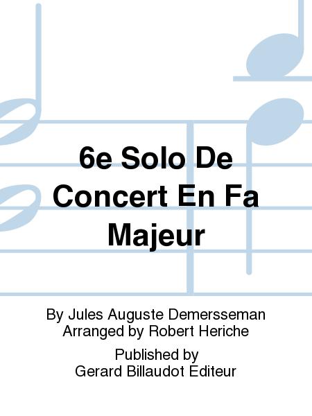 6e Solo De Concert En Fa Majeur