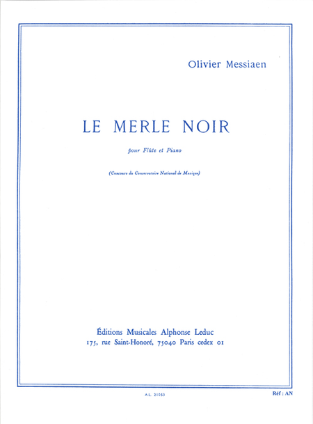 Merle Noir - Flute et Piano
