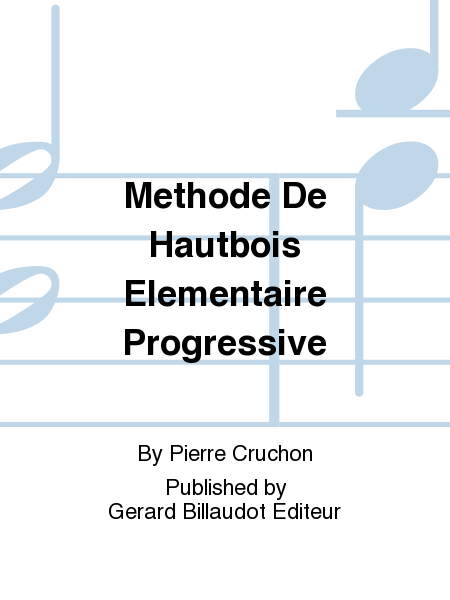 Methode De Hautbois Elementaire Progressive