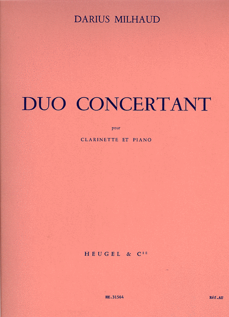 Duo Concertant - Clarinette et Piano