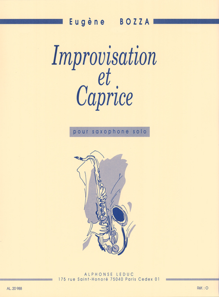 Improvisation et Caprice - Saxophone Seul