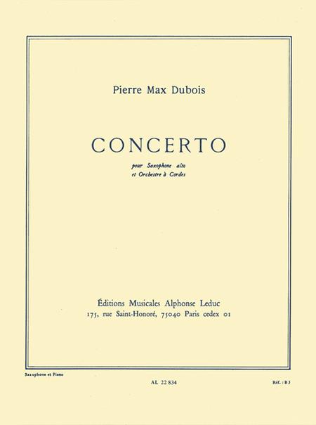 Concerto (Saxo Orch.Cordes) - Saxophone Mib et Piano
