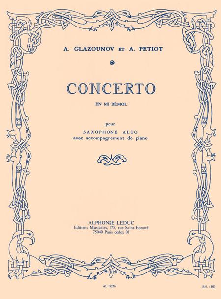 Concerto En Mi Bemol - Saxophone Mib Et Piano