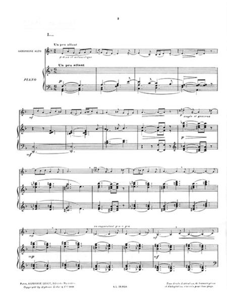 Histoires - Saxophone Mib Et Piano