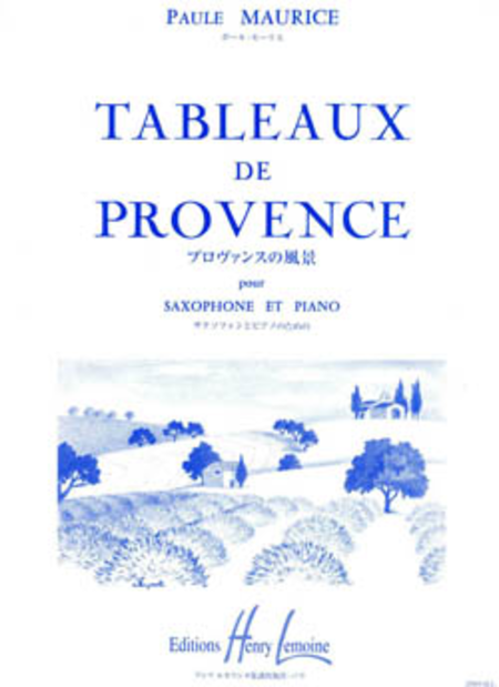 tableaux de provence sheet music by paule maurice sheet music plus. Black Bedroom Furniture Sets. Home Design Ideas