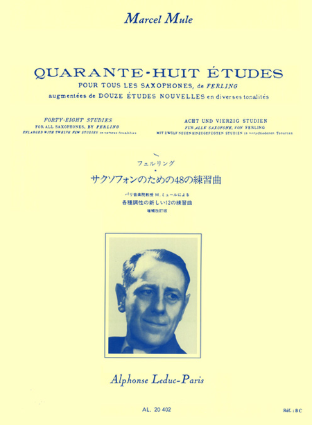 48 Etudes D'Apres Ferling (Nvlle Ed.Augment.De 12 Etudes Nouvelles) Saxophone
