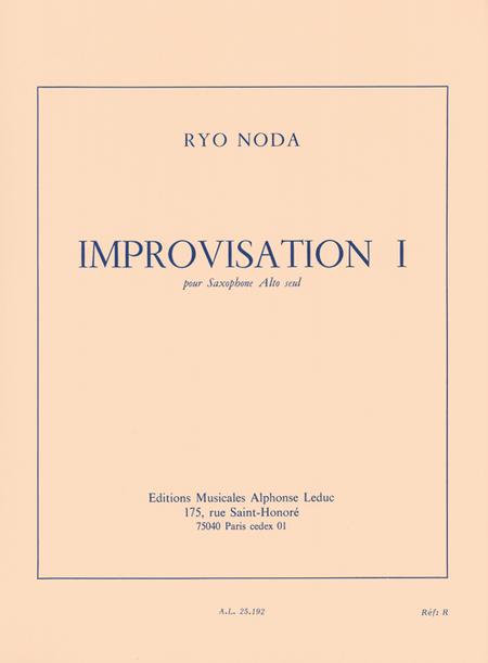 Improvisation 1 - Saxophone Mib Seul