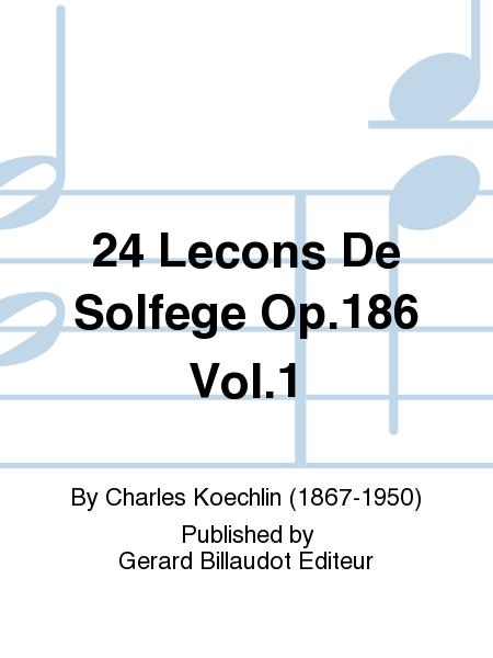 24 Lecons De Solfege Op.186 Vol.1