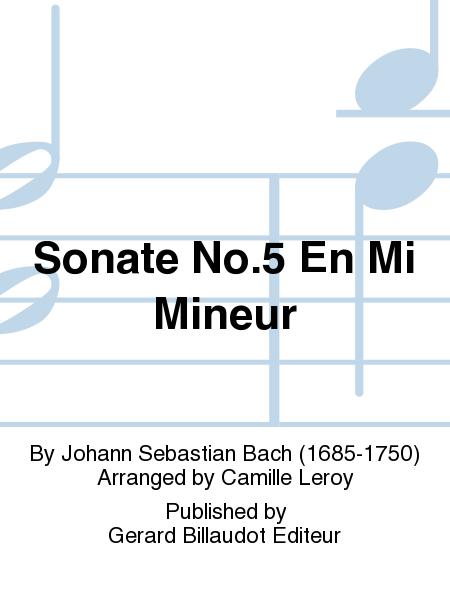 Sonate No.5 En Mi Mineur