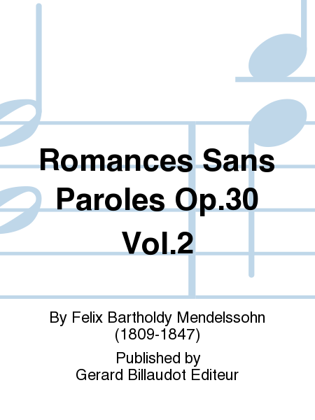Romances Sans Paroles Op.30 Vol.2