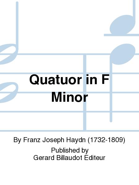 Quatuor in F Minor