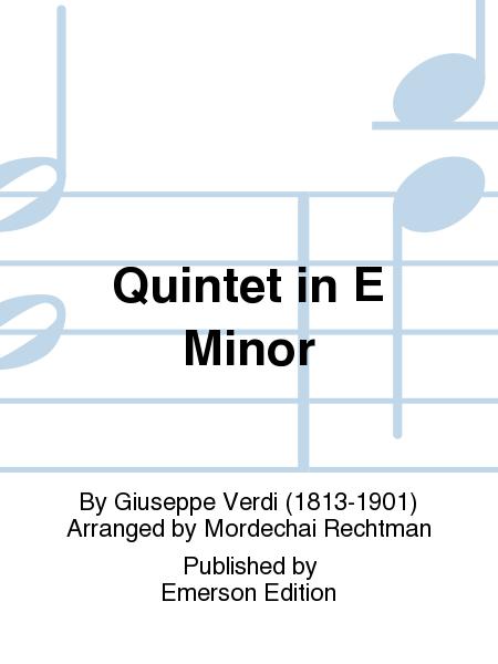 Quintet in E Minor