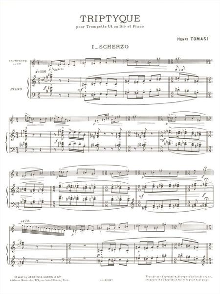 Triptyque - Trompette Ut ou Sib et Piano