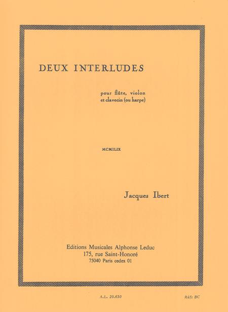 2 Interludes - Flute Violon Clavecin (Ou Harpe)