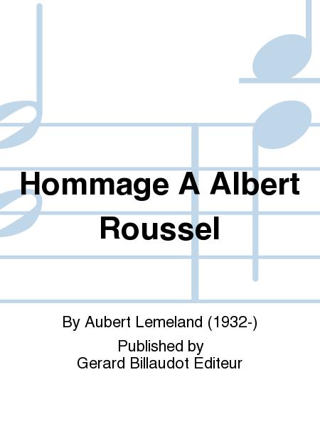 Hommage A Albert Roussel