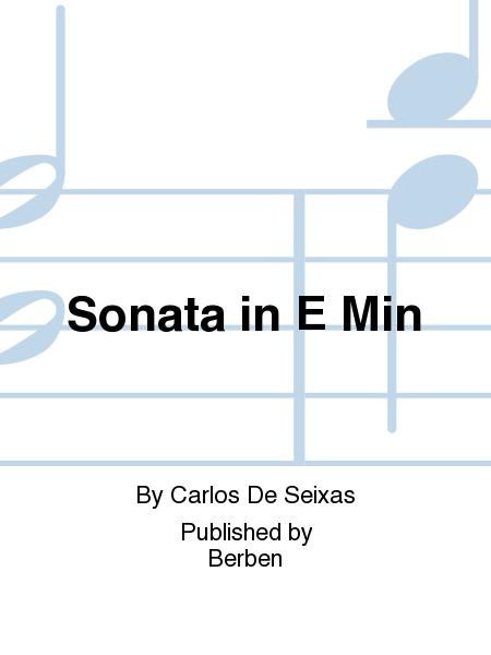 Sonata in E Min
