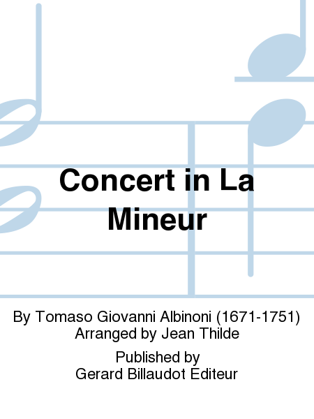 Concert in La Mineur