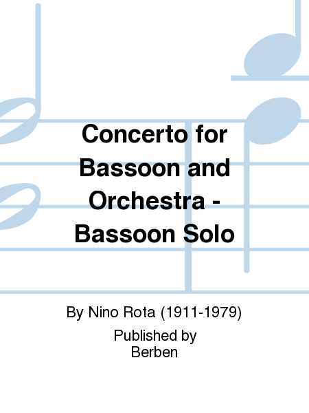 Concerto for Bassoon and Orchestra - Bassoon Solo