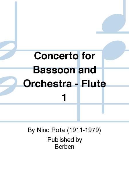 Concerto for Bassoon and Orchestra - Flute 1
