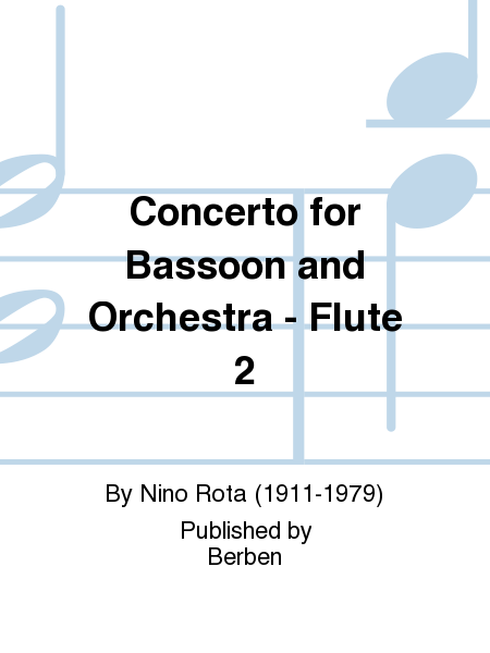 Concerto for Bassoon and Orchestra - Flute 2