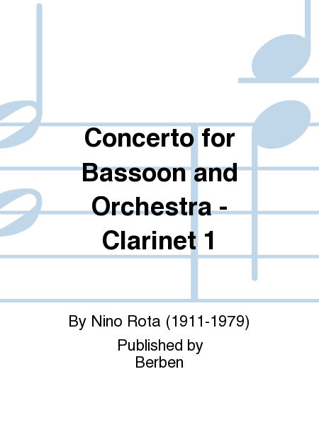 Concerto for Bassoon and Orchestra - Clarinet 1