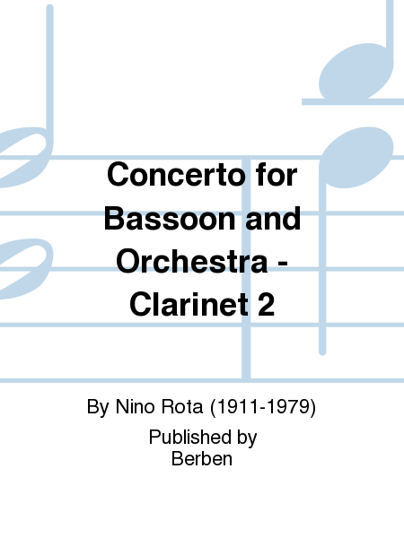 Concerto for Bassoon and Orchestra - Clarinet 2