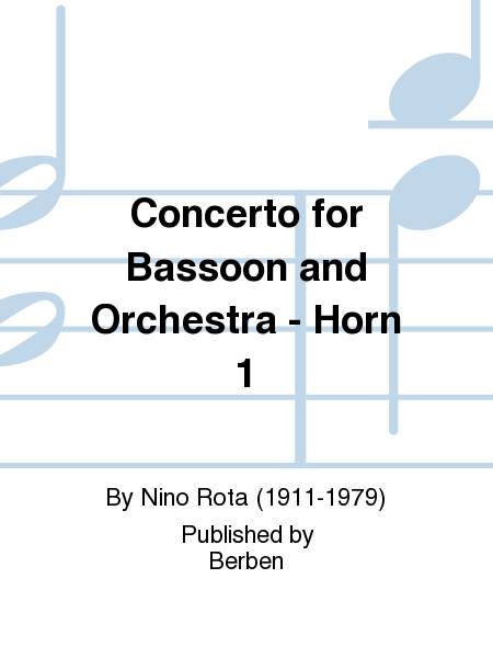 Concerto for Bassoon and Orchestra - Horn 1